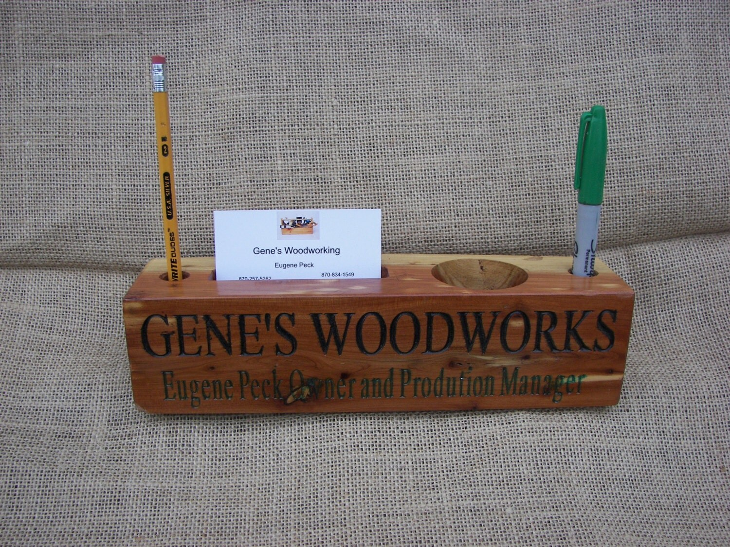 Wooden Desk Name Plates ~ Wood desk red cedar organizer name plate by geneswoodwerks
