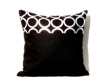 Silver Cushion Cover, Geometric Pillow Case, Holiday Decorative Pillow Case , Silver 03