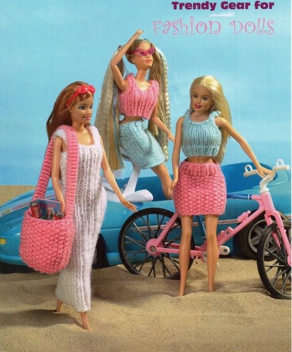 Knitting Patterns For Teenage Dolls : Teenage Dolls Knitting Pattern dress skirts tops dolls by ...