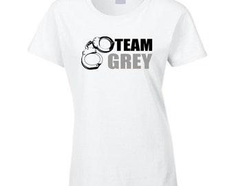 50 Shades Of Grey T Shirt Team Grey T Shirt ladies BDSM t shirt funny valentine gift for her white t shirt