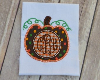 Personalized Pumpkin Applique Onesie