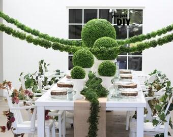 Boxwood Kissing Balls Banner Silk Rose Flower Pomander Balls Bunding for Wedding Party Decoration