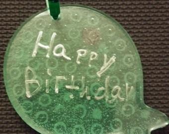 Happy Birthday ballon suncatcher