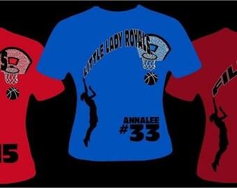 Basketball GlitterBling T-Shirt!!
