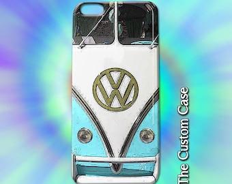 VW Van Iphone Case, Vintage Camper Van Iphone Case, Retro Blue  Van Case, Iphone 4 case Iphone 5 case, Iphone 6 case Iphone 6 plus case