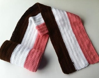 Neapolitan Ice Cream Scarf