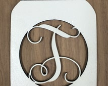 Unfinished Wood Mason Jar Monogram Door Hanger Laser Cutout w/ Your Initial, Home Decor, Script, Southern Charm Decor