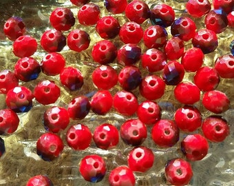 6mm Multi-faceted Rondelle Beads