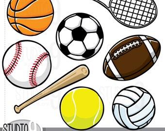 Sports Clip Art: WHITE SPORTS BALLS Clipart Sports Download