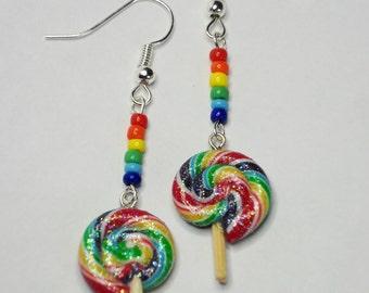 Rainbow Lollipop Earrings [small]