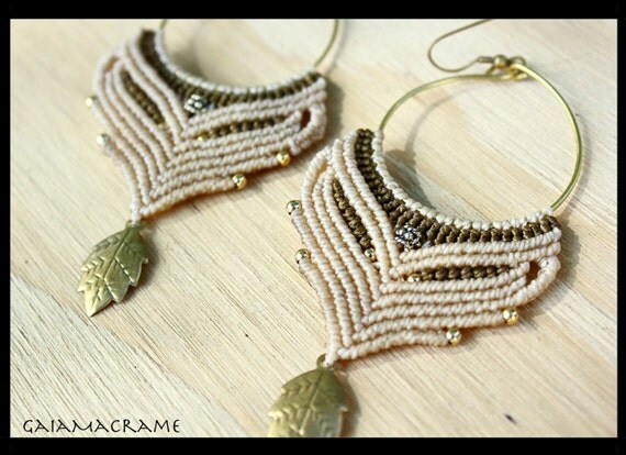 macrame hoops items similar to white ceremonial macrame hoop earrings 8471