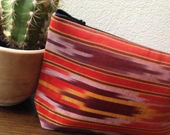 Bag made of hand-woven cloth, cosmetic bag, handbag