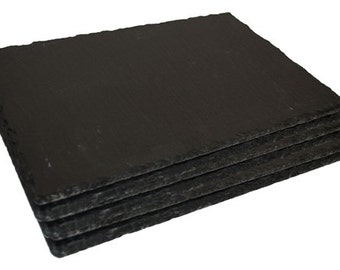 Set of Natural Slate Rectangular Place Mats - Dinner Table Place Mats
