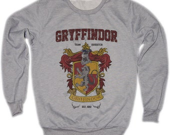 Gryffindor Harry Potter Hogwarts Quidditch Team Festival Retro VTG Jumper Sweater Sweatshirt Long Sleeve Crewneck Round neckline S M L