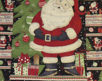Christmas Quilt-Vintage Style Santa Quilt-Christmas Quilt/Blanket- Reduced Price- Large Old Time Santa Quilt-Free Shipping