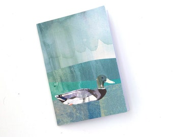 A5 Notebook with Textured Duck Illustration