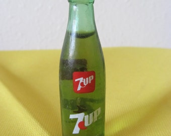 Vintage Mini Bottle of 7Up