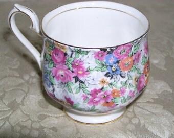 Royal Albert Rose Chintz 1950s tea cup