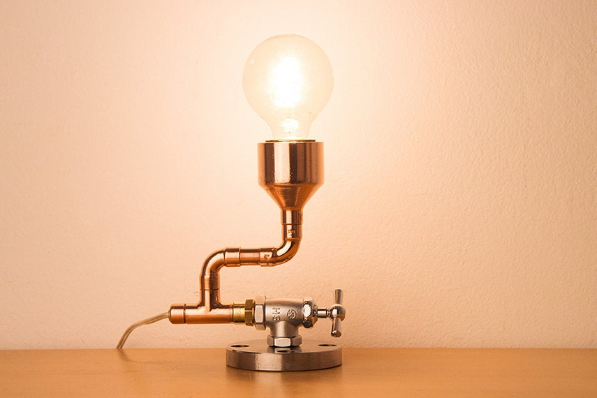 pipestory pipe lamp copper lamp industrial lamp. Black Bedroom Furniture Sets. Home Design Ideas
