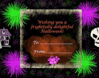 Halloween greeting card, Halloween instant download, Halloween card, Greeting card, Digital Download Invitation