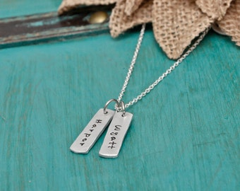 Necklace with names, mothers necklace, tag necklace, personalized necklace, custom necklace