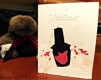 Tis But a Scratch Monty Python Card - Handmade, Personalized, Hopefully Funny, Maybe Romantic