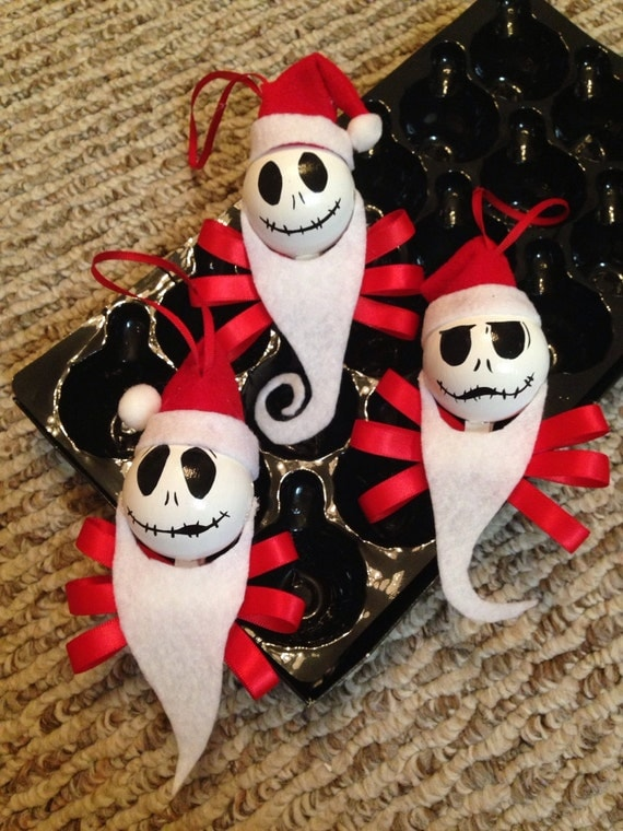 Items similar to santa claus jack skellington the - Jack skellington christmas decorations ...