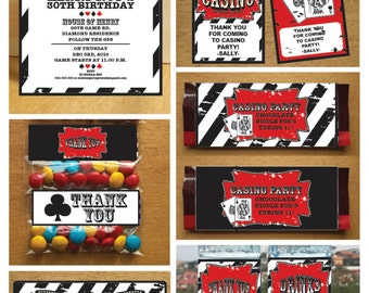 PDF format-Instant download-Card game themed birthday party pack printable- complete party pack