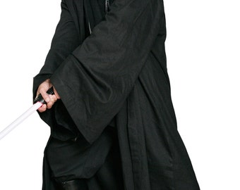 Star Wars Sith / Jedi Robe ONLY - Black - Replica Star Wars Costume - JR 1426
