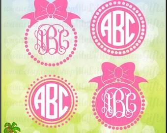 Bow SVG ~ Bow Monogram Svg ~Large Bow svg ~ Monogram SVG ~ Bow Dot Frame ~ Pearls svg ~ Commercial Use SVG ~ Cut File ~ Clipart dxf-eps-png