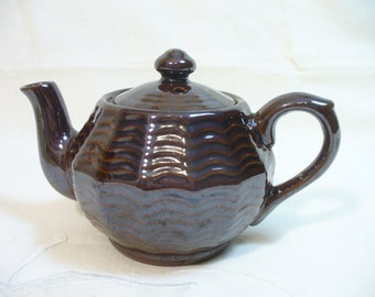 Vintage brownware teapot - Occupied Japan - 6 inches - 1-2 cup size - # HS-TP-10