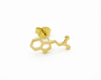 Serotonin molecule earrings dopamine earrings chemistry jewelry chemistry earrings molecule earrings