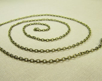 Necklace Link Chain, Bronze Necklace, Dainty Necklace, Link Chain, Chain Bronze Metal Vintage Style