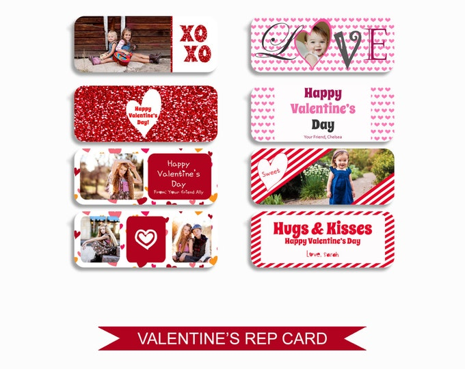 Valentine's Day Rep Mini Card Templates - 5x7 Digital Photography Photoshop Files - Template for Photographers - INSTANT DOWNLOAD - RMC01
