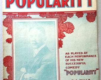 George M. Cohan 1906 Sheet Music POPULARITY
