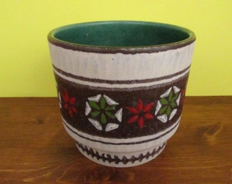 Pottery planter/Blumentopf | Jasba | West German Pottery