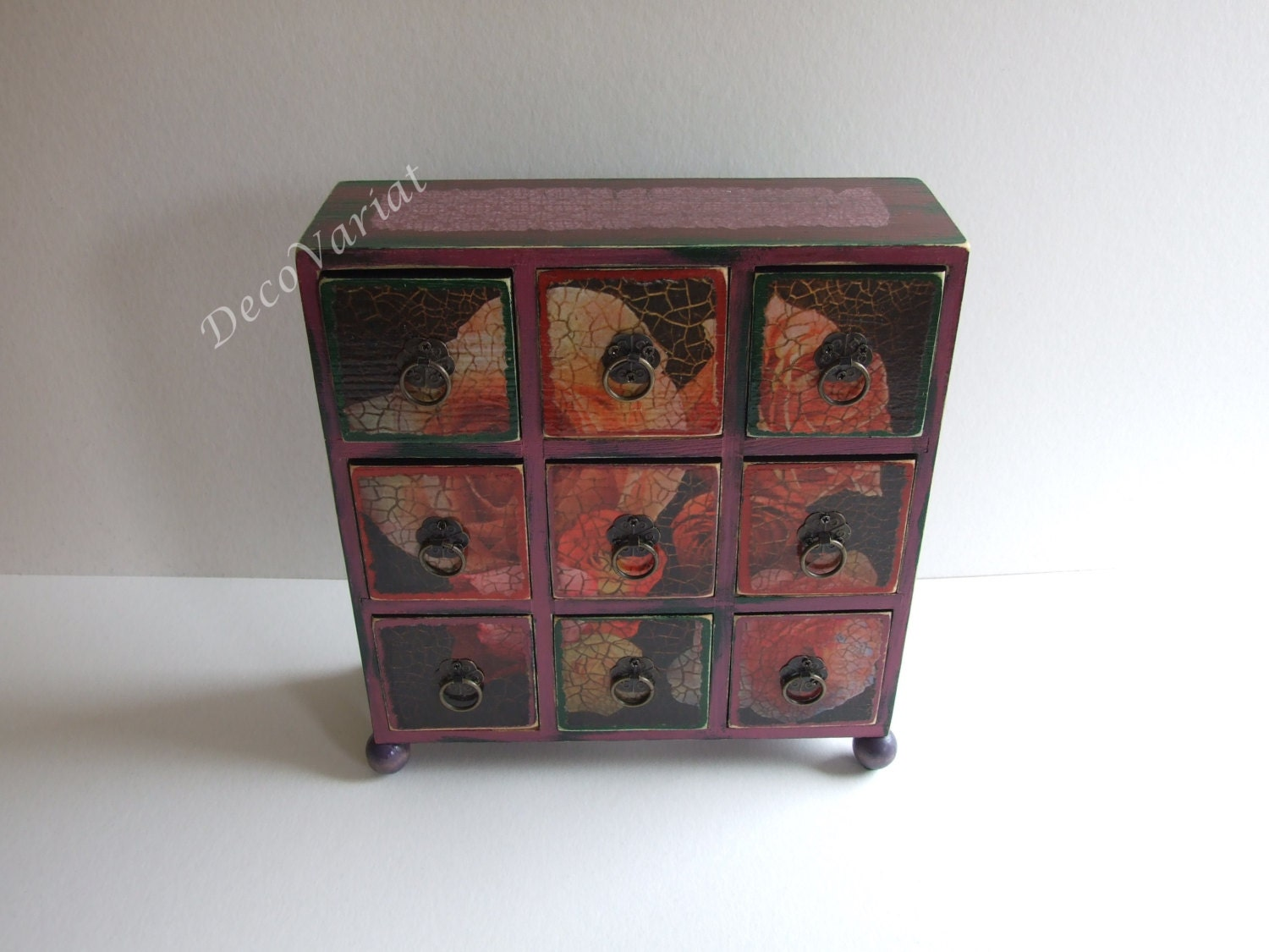 Mini drawers chest of jewellery box reserved