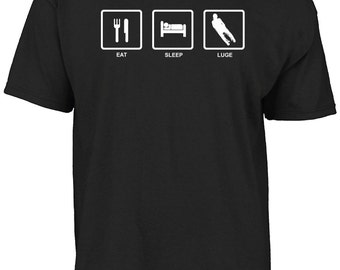 Eat sleep luge t-shirt
