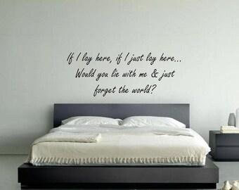 the world snow patrol lyrics bedroom wall art sticker picture decal