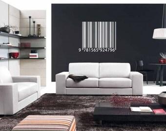 Barcode Modern Wall Art Sticker Decal nm053