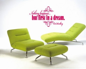 Dream Quote Carl Sandburg Wall Art Sticker Decal nm127