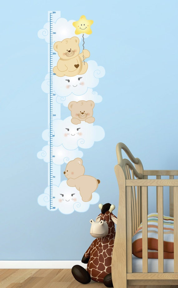 metro crescita bambini adesivi murali camerette bimbo metro