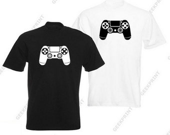 T-SHIRT PS4 shirt gamer geek controller tshirt 4 Playstation ps2 ps3 games video game game controller S M L XL tee