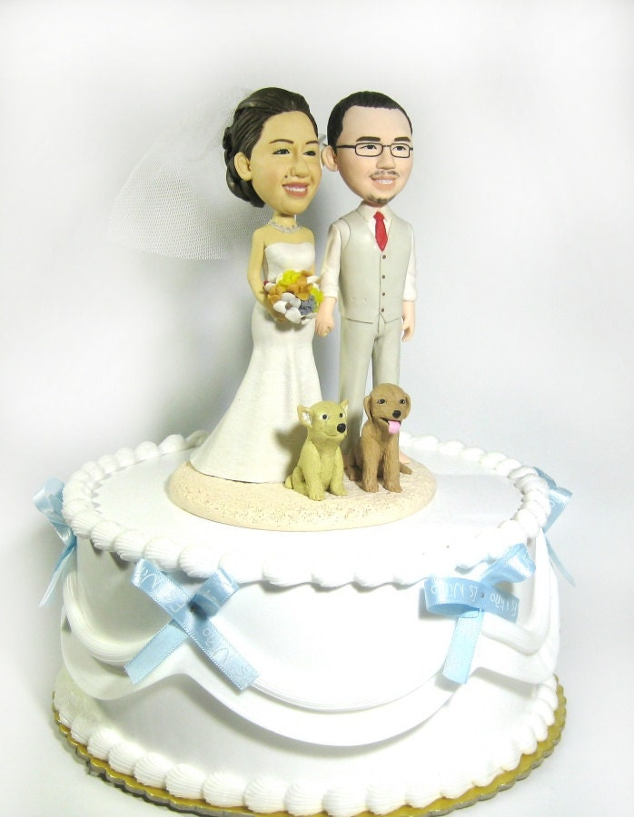 cartoon wedding cake toppers wedding cake topper personalized toppers pets 12421