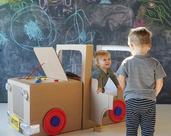 Build-your-own Cardboard Box Car - Instructions