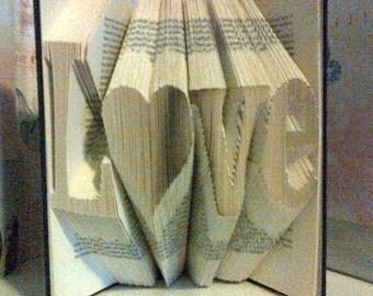 Love Book Fold Art