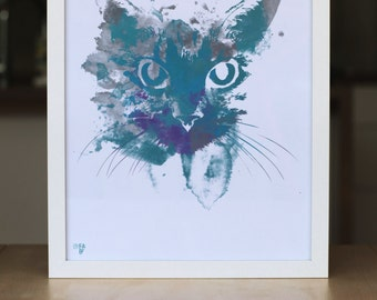 Cool Cat print A3 and A4