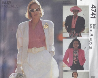 Uncut McCalls Pattern # 4741 1989 Sew News Lined Jacket