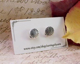 Small Silver Sunshine Stud Earrings