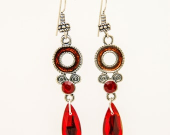 Bali style red dangle